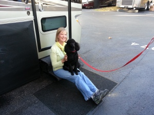Diane found a new friend!! That's Junior,, Jim and Beth's dog.