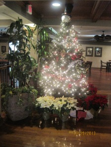 One of the Christmas Tree's they have up in the Clubhouse in the Crown Club.
