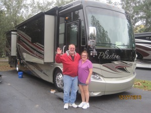 Jim and Beth with there new rig!!