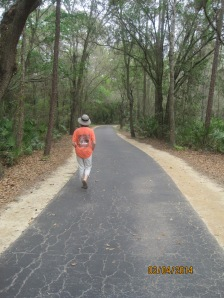 The walking trail around the park