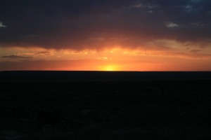 A nice sunset while we were at Fort Stockton