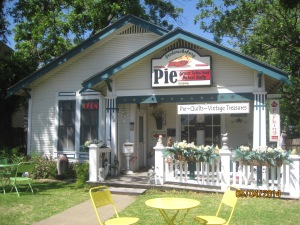 This Pie Shop is owned and operated by a man and wife. They make the pies fresh every day and the shop closes when they run out of pie. We just HAD to support their efforts.