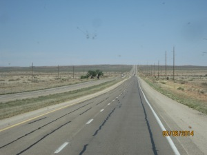 We drove roads like this for almost 400 miles !!! BORING!!!