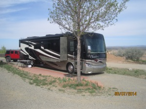 Our spot at Santa Fe Skies RV Park.