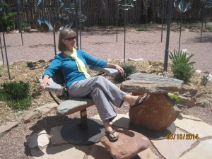 I think Diane found herself a comfortable rock seat!! I don't think that can come along in the RV honey!!