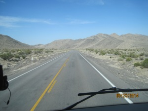 We saw a lot of this on todays trip. Lots of straight open road.