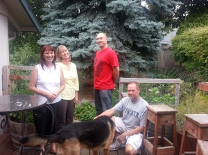 Marian, Diane, Joe and brother John. And of course Diego (the dog)