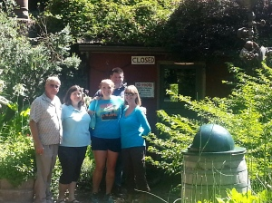 The gang standing in front of one of the many small watering holes spread through out the grounds.