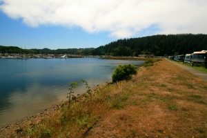 A lot of the RV spaces here nose up to the water. And there is a nice 1 mile walking trail around the park as well.