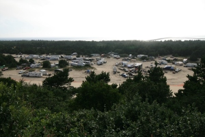 Dune Fest taking shape. Diane and I used to take part in events like these. We loved the dunes and our sandrail.
