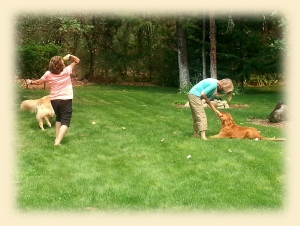 Chris & Diane with Felix and Jack for some play time.