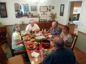 We had a GREAT Cajun dinner at Lee and Coleen's