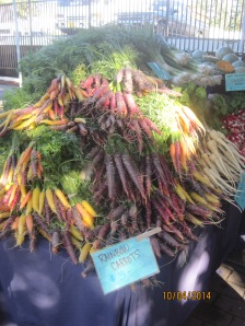 Very colorful Carrots. They should me good in the roast we plan to make Sunday or Monday.