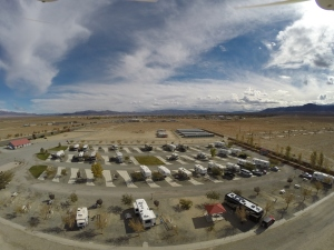 "Whiskey Flats RV Park in Hawthorne Nevada taken with ""The Toy"". That's us just to the right of the gazebo at the bottom."