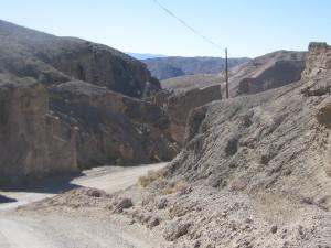 Part of the road leading into the Date Ranch