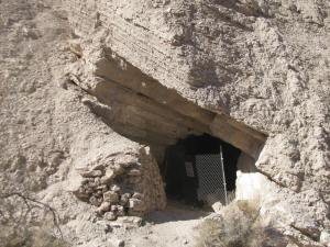 There are a number of these mine openings along the road