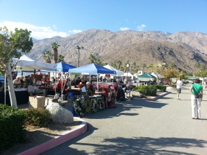 A small open air market in Palm Springs