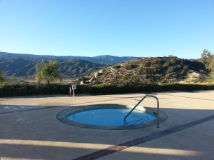 One of the hot tubs. What a great view to have while soaking!!