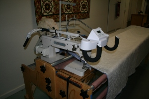 Part of the long arm quilting machine