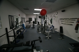 The weight room. I spent and hour here every morning.