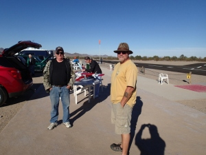 Red & me at the Quartzsite RC airfield. Steve as taking pictures.