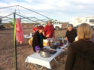 That's Steve and Carol who supplied the pasta and spaghetti sauce for a great Italian dinner one evening. THANKS GUYS!!!