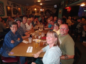 Everyone here at the table belong to the RV Dreams family. Having a great time at Silly Al's in Quartzsite.