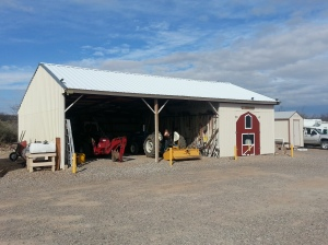 A barn full of tools that lease holders can use. Except the tractors,,,, darn