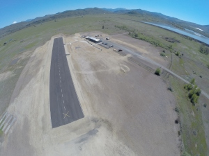 "A shot taken by the ""toy"" of Agate Lake RC airfield. The runway is 600'. Nice shelters and pit toilets."