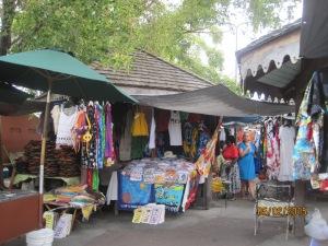 An outdoor market at St Maarten