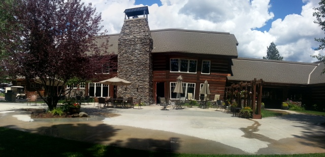 The rear of the lodge at the McCall RV Resort