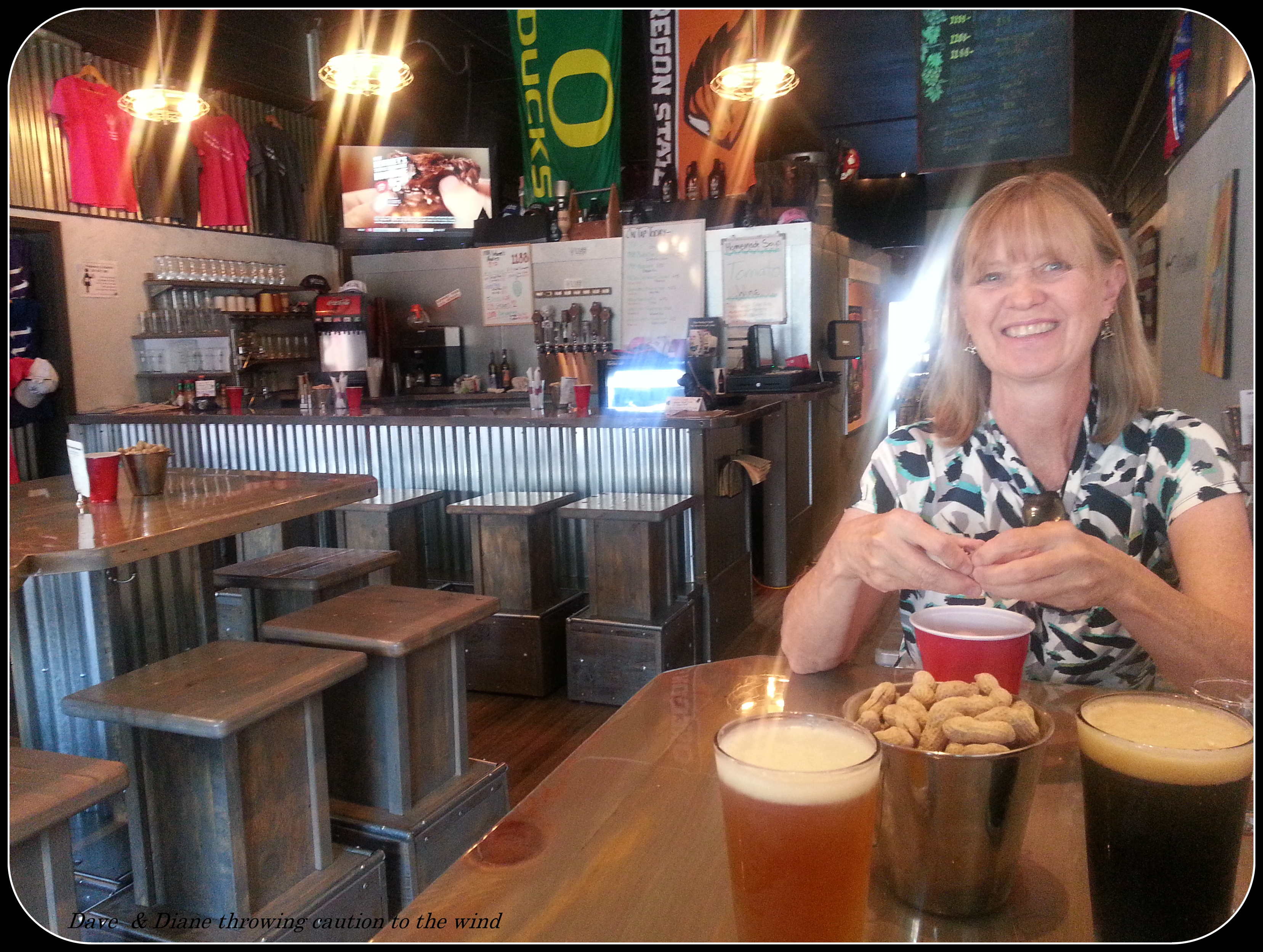 a short but nice stop outside john day oregon dave diane having sandwich s brew s at the 1188 brewery in john day