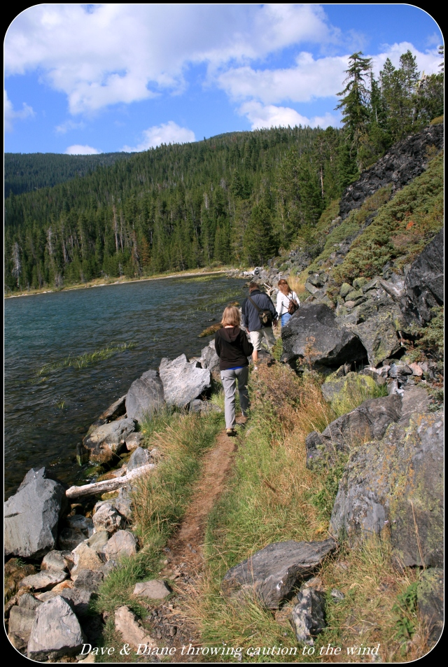 A great trail along Paulina Lake