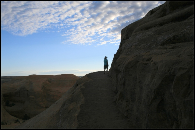 The final turn on the trail to the Delicate Arch