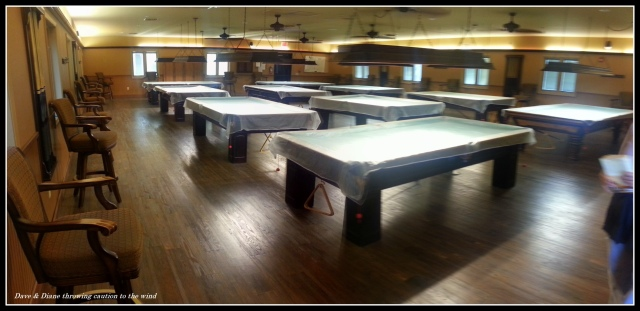 A very nice pool room and the tables are nice.