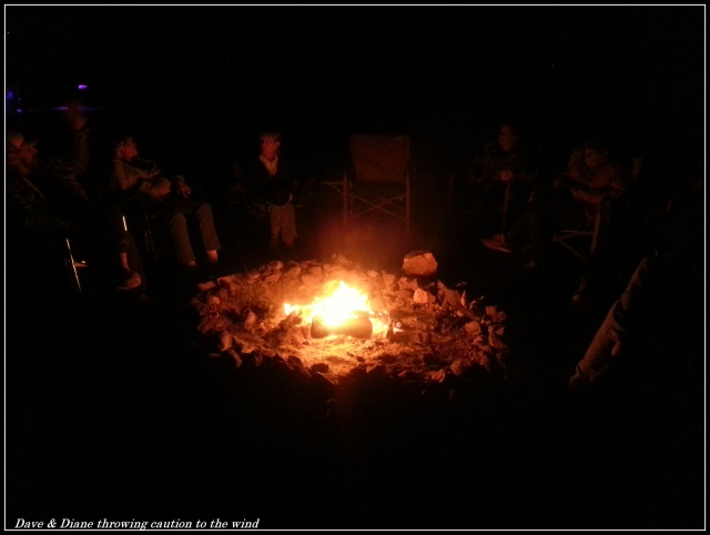 The circle around the fire just kept getting smaller