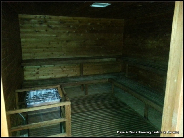 A nice sauna at this place