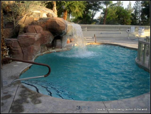 There are 2 small pools and a larger pool. This is one of the small ones.