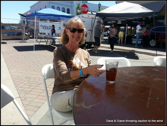 We attended the Medford Beer fest one Saturday and I was trying to show Dianes Pretzel necklace in this picture. Great day weather wise, about 25 breweries, some so so music and cold beer. Not a bad day.