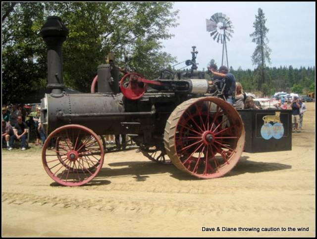 What a great old steam tractor.