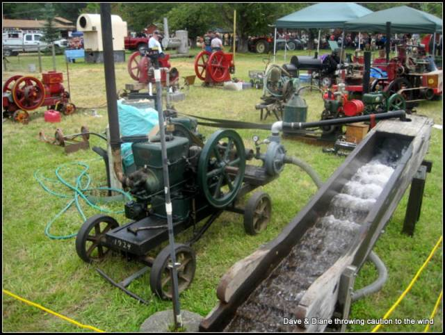 They had a great display of old engines and most of them were running. I love that stuff.