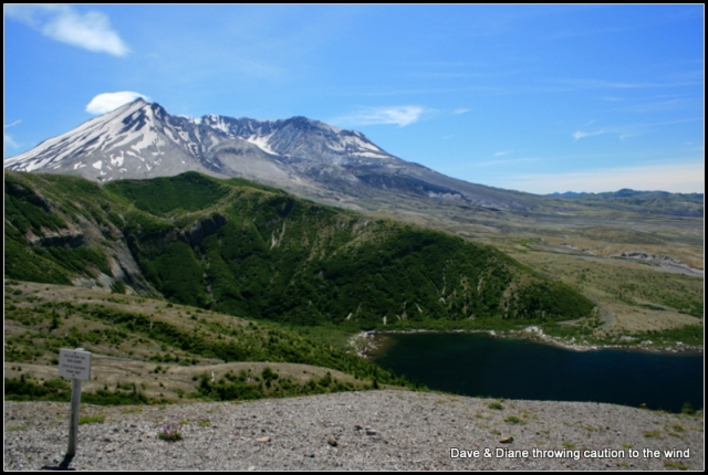 Mount Saint Helens. A view from the top of the stairs.