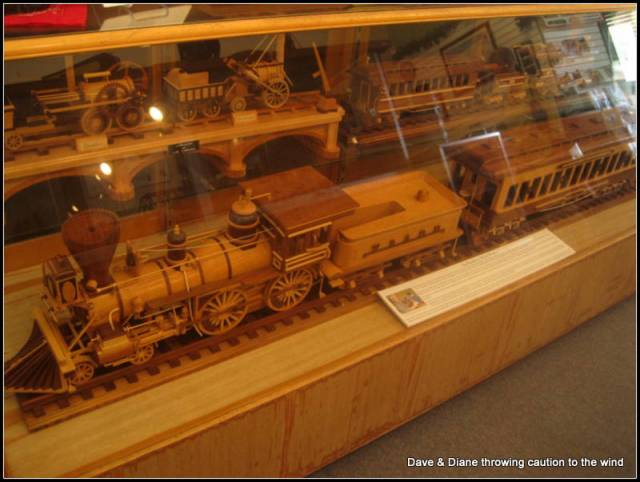A guy hand carved every piece in these trains
