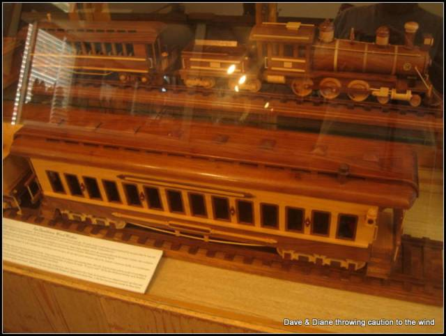 A guy hand carved every piece in these trains. What a job!!