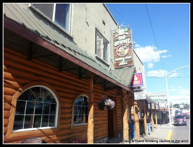We had a nice meal here at The Outpost in John Day Oregon