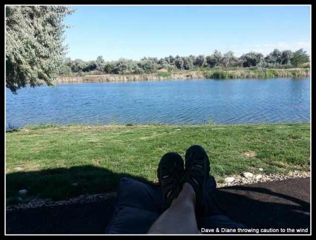 Our back yard at Canyon Springs RV Resort in Caldwell Idaho