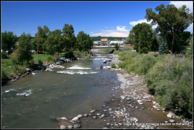The San Juan River runs through downtown Pagosa Springs.