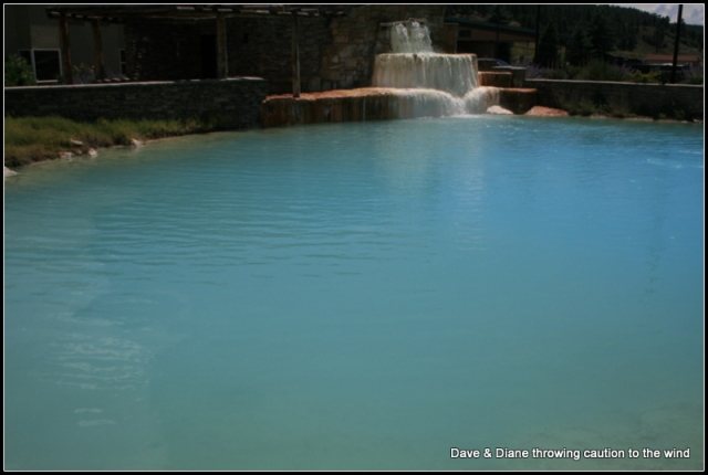 The water in this hot spring is between 120 & 140 degree's!!