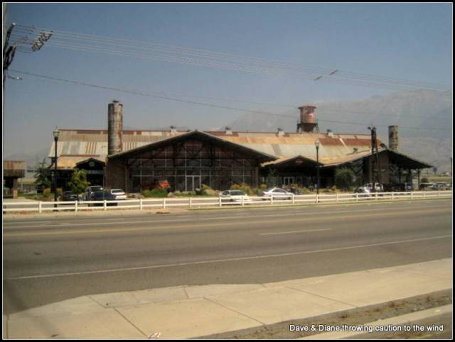 Timpanogos Harley Davidson in Provo Utah. This building was built mainly from salvaged material. It is a work of art and HUGE!!