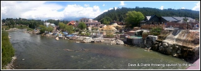 A bunch of Hot Springs along the river in Pagosa Springs.